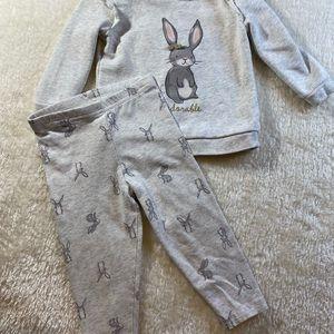 Carters girls 18m adorable bunny set